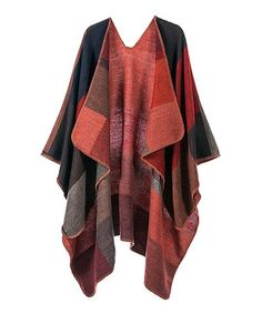 2890025cf6 This Burgundy  amp  Orange Color Block Reversible Shawl - Women is perfect!   zulilyfinds