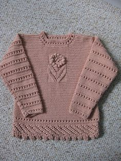 Free Pattern: Lacy Sweater by Zoë Mellor. 6 months to 4 years