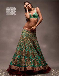 Lengha by Jade by Monika & Karishma