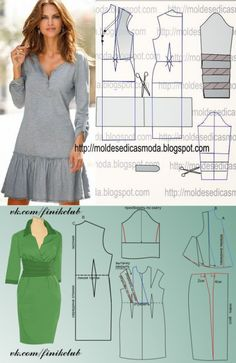 Los patrones simples de los vestidos elegantes by lucinda - Best Pins Live Sewing Dress, Dress Sewing Patterns, Sewing Clothes, Clothing Patterns, Costura Fashion, Cute Dresses For Party, Simple Prom Dress, Make Your Own Clothes, Vestidos Vintage