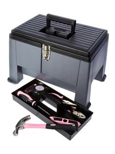 A Footstool and Toolbox in One - This tool case houses the usual screwdrivers and hammers and helps you reach high shelves. Stack-On Step 'N Stor step stool, $45, hayneedle.com