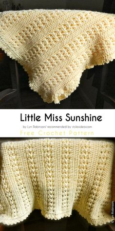 Little Miss Sunshine Baby Blanket Free Crochet Pattern | Crafts Ideas