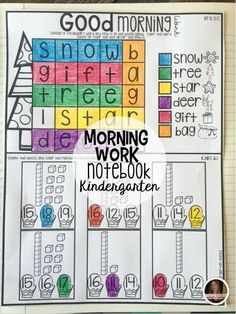 If you are looking for December Worksheets and Printables for your kindergarten students you will love Morning Work Notebook! Each unit comes with a checklist-and a way to organize and use the printables as evidence. Each month you will get a new set-up to 9 months worth of morning work.