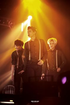 Kai, Chanyeol, and Sehun