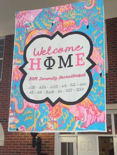 Welcome home your newest members in style! Phi Mu, Kappa Delta, Dorm Life, College Life, Go Greek, Aim High, Carnations, Sorority, Banners