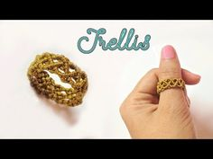 How to macrame a ring with the basic trellis pattern - Step by step tuto. Macrame , How to macrame a ring with the basic trellis pattern - Step by step tuto. How to macrame a ring with the basic trellis pattern - Step by step tuto. Macrame Rings, Macrame Art, Macrame Projects, Macrame Knots, Macrame Jewelry, Macrame Bracelets, Diy Rings Tutorial, Beads Tutorial, Macrame Bracelet Tutorial