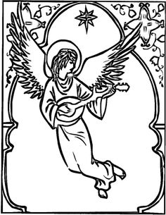1000 images about Christmas Angel Coloring Page on