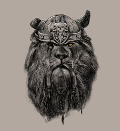 Society6 Picks — The eye of the Lion Vi/king by Madkobra Purchase...