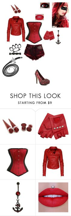 """""""Scarlet Alpha's outfit #2 for my story -A Hero's Hero Andy Biersack x Batman(reader)-"""" by serenity-sempiternal2006 ❤ liked on Polyvore featuring RED, ASOS, Watson's and Jeffree Star"""