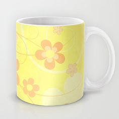 #home #mug #flowers #floral #yellow
