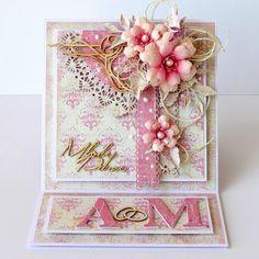 Card flower flowers doily vintage shabby chic romantic kartkulec: NA PRAWO, NA LEWO, W GÓRĘ I W DÓŁ