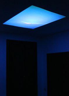Marco Vitale, Koyaanisqatsi, 2015, installazione, proiezione video sul soffitto.  Koyaanisqatsi è un documentario diretto da Godfrey Reggio nell'arco di sei anni di riprese, pubblicato solo nel 1982. La scena finale del film mostra l'esplosione dello...
