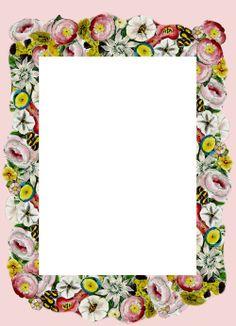 Free printable vintage flower stationery - ausdruckbares Briefpapapier - freebie   MeinLilaPark – digital freebies
