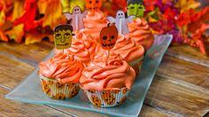 Halloween Vanilla Cupcakes