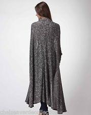 CHELSEA VERDE Black Slouch Soft Flowy Long Oversized Sweater/Cardigan 632 L/XL