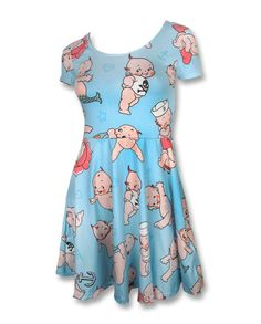 Liquor Brand Damen KEWPIE Kleid.Oldschool,Tattoo,Pin up,Custom Clothing Style