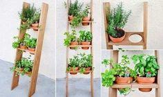 floreira vertical jardim do edem em madeira