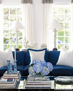 Blue and White Costal Decor | iDesignArch | Interior Design ...