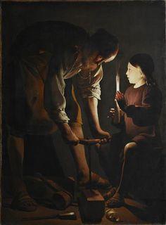 Saint Joseph the Carpenter  Georges de La Tour Oil on canvas, 137 x 102 cm. Paris, Musée du Louvre, Département des Peintures. Donation Percy Moore Turner, 1948
