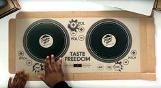 Ein Pizzakarton wird zum DJ Deck | Taste Freedom DJ Cardboard Pizza Box…