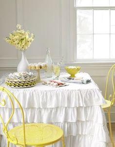 Love the ruffles and yellow.