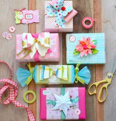 Holiday gifts with wrap and embellishments from Brenda Walton dies for Sizzix