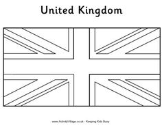 Union Jack Colouring Page