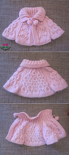 Baby Knitting Patterns Girl No title Baby Knitting Patterns, Knitting For Kids, Knitting Designs, Baby Patterns, Knitting Projects, Crochet Projects, Crochet Patterns, Poncho Patterns, Crochet Girls