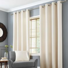 Equipped With A Thermal Lining To Maintain Regular Room Temperature Our Eyelet Curtains Are Finished In Natural Colourway And Available