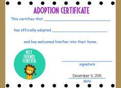 Free Printable Stuffed Animal Adoption Certificates Http
