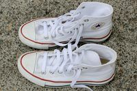 How to Clean White Cloth Tennis Shoes ~ While white tennis shoes have a certain stylish look about them, every little piece of dirt with which they come into contact will be more than noticeable. It doesn't take long for white cloth tennis shoes to no longer appear white. They become more a gray color depending on how often you wear them....