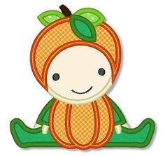 Pumpkin Baby Applique - 3 Sizes! | Halloween | Machine Embroidery Designs | SWAKembroidery.com Lynnie Pinnie