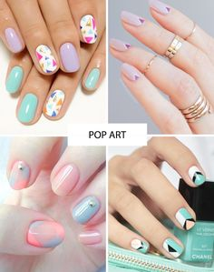 Pretty pastel nail art | Spring Nail Trends for 2015 | www.onefabday.com