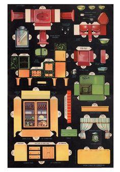 Antique Original 1932 Uncut Large Kitchen Living Room Bath Whitman R Bezucha   eBay