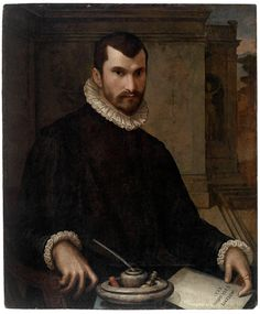 Moroni, Giovanni Battista Italian (circa Portrait of a Man 1576 Painting tempera over gesso ground on wood panel, black and gold frame Renaissance Portraits, Renaissance Art, Italian Painters, Italian Artist, Disco Fashion, Religious Paintings, Queer Art, Portrait Sketches, Old Paintings