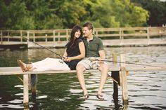 What a cute excuse for a fishing date! Photo by Jeannine. #weddingphotographersminnesota