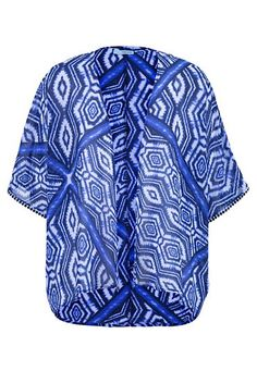 blue and white patterned kimono (original price, $29) available at #Maurices
