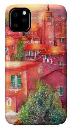 Village Roussillon Provence France IPhone Case featuring the painting Roussillon Provence France by Sabina Von Arx Your Paintings, Original Paintings, Creative Colour, Provence France, Basic Colors, Painting Techniques, Color Show, Colorful Backgrounds, Fine Art America