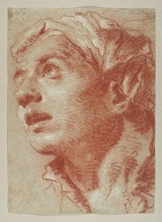 Giovanni Battista Tiepolo, Head of a Young Man in Three-Quarter View Facing Left, Looking Up, The Metropolitan Museum of Art