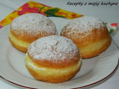 Eastern European Recipes, European Cuisine, Czech Recipes, Donuts, Food And Drink, Cooking Recipes, Sweets, Bread, Glass