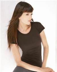 bella 8201 Ladies' Denise Short Sleeve Crewneck Gauze Jersey T-Shirt is a Peek-a-boo tee made from an ultra-soft gauze-like fabric that is is lightweight and semi-sheer. It's a shirt that is beautiful and lends beauty too.