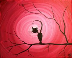 Cat Painting-What Can I See 8 x 10 acrylic door MichaelHProsper Paintings I Love, Love Painting, Painting & Drawing, Acrylic Paintings, Illustrations, Illustration Art, Original Art, Original Paintings, Cat Silhouette