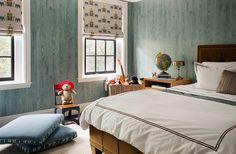 Nina Farmer Interiors - faux bois wallpaper