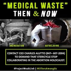 Voices for the Unborn: Medical Waste Companies Keep Abortion Alive http://voicesunborn.blogspot.com/2016/02/medical-waste-companies-keep-abortion.html#.VstANJwrLIU