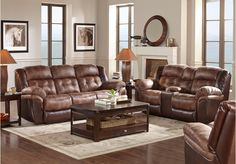 picture of Langdon Point 3 Pc Reclining Living Room  from Living Room Sets Furniture