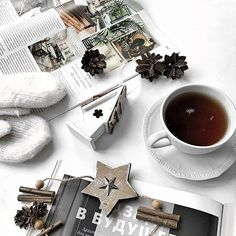 Идеи для фото в инстаграм. Минимализм, раскладка, флатлей, кофе #фото #вдохновение #декор