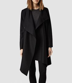 Womens City Monument Coat (Black)   ALLSAINTS.com