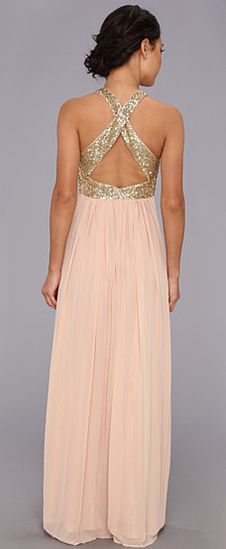 Blush Pink and Gold Dress - Bridesmaids