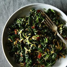 Kale and Brussels Sprout Salad with Honey Balsamic Dressing on Food52.