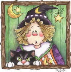 scarecrow with black cat